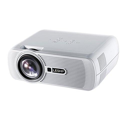 HD 1080P Beamer, LESHP Multimedia LCD Heimkino Video Projektor 1280 × 1920 max Auflösung Heimkino Multimedia Video Support 1080P / USB / VGA / SD / HDMI für Xbox / iphone / Smartphone / PC
