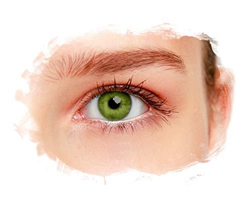 eyelee - Farbige Kontaktlinsen, Quartz, Monatslinsen OHNE Stärke, hohe Deckkraft, angenehmes Tragegefühl, natürlicher Look, 2 Stück