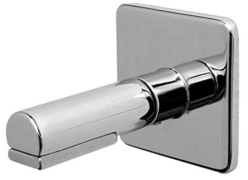 BA-DE Magnet-Seifenhalter - Seifen-Ablage - Leichte Montage - Kleben oder Schrauben - Chrom Glänzend - Mit Befestigungsmaterial - Für Badezimmer - Inkl. Seifenplättchen - Elegant abgerundet