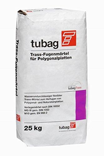 Fugenmörtel Trass für Naturstein Polygonalplatten tubag TFP 25 kg