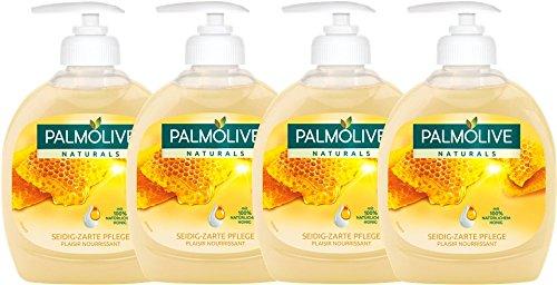 Palmolive Flüssigseife Milch und Honig, 4er Pack (4 x 300 ml)