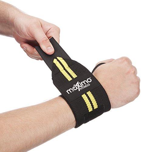 Maximo Fitness - Handgelenkbandagen (1 Paar) - Hervorragende Handgelenkstütze für Gewichtheben, Crossfit und Fitnesstudio - Für Frauen & Männer - Einheitsgröße (Yellow)