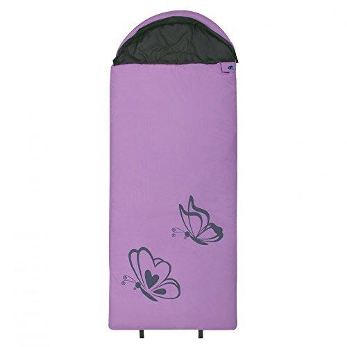 10T Kinderschlafsack BUTTERFLY 180x75 Deckenschlafsack 300g/m² Schmetterling Schlafsack Rosa / Grau