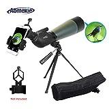 Aomekie Spektiv für Sportschützen Jagd 20-60 x 80 Zoom Wasserdicht 45 Grad abgewinkelt Okular Fernglas Monokular Teleskop mit Stativ und Tasche für Vogelbeobachtung Himmelsbeobachtung