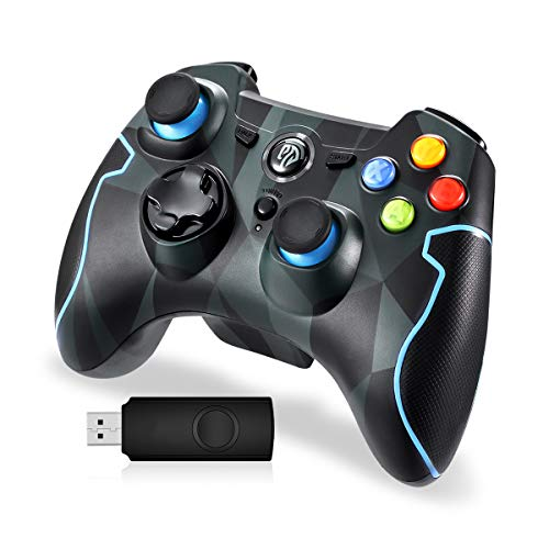 EasySMX PC Joysticks, PC Gamepad 2,4G Wireless Gaming Controller Dual Vibration Turbo für Windows-PC/Android Phone Tablet
