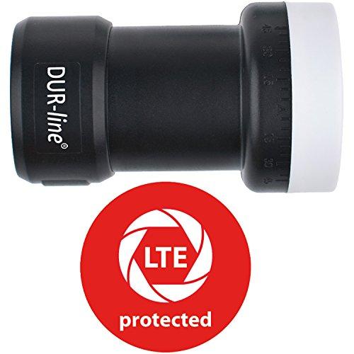 DUR-line +Ultra Premium Single - LNB - 1 Teilnehmer + mit LTE-Filter + [Full HD, HDTV, 3D, LTE-/UMTS-/GSM-/DECT-Filter ] - DUR-line Qualitätsprodukt