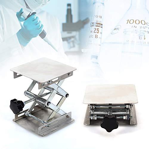 Laborhebebühne,Jectse 100X100mm Edelstahl Laborständer Hebebühne Lifter Labor Höhe von 45mm bis 150 mm