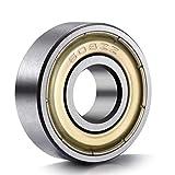 AncirsSkateboard-Kugellager / Rillenkugellager, 608 ZZ, mit doppelter Metallabschirmung, 8mm x 22mm x 7mm, 20 Stück