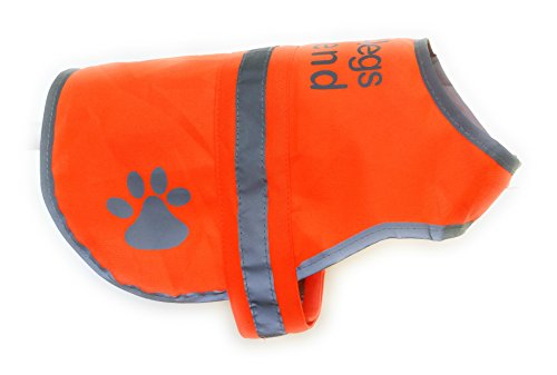 Dog Safety Reflective Vest 5 Sizes to fit dogs 10 lbs -130 lbs : High Visibility for Outdoor Activity Day and Night, Keep Your Dog Visible, Safe From Cars & Hunting Accidents | Blaze Orange Large