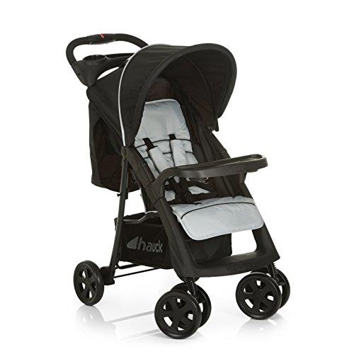 Hauck Buggy Shopper Neo II / mit Liegefunktion, klein zusammenfaltbar / für Kinder ab Geburt bis 25 kg, Caviar Silver (Silber)