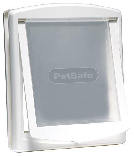 PetSafe Staywell Haustierklappe L Weiß, 2 Verschlussoptionen, Teleskoprahmen,  45,6cm x 38,6cm, große Hunde