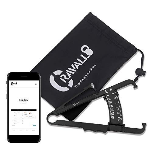 Caliper, Körperfettmessgerät, Fettzange. Unkompliziert und mit Video Anleitung von Cravallo