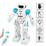 BelleStyle Ferngesteuerter Roboter, Intelligente Programmierung Mit Infrarot Controller, LED Augen RC Roboter Spielzeug für Kinder, Musik, Tanzen, Gehen, Gesten-Sensor Wiederaufladbares Roboter