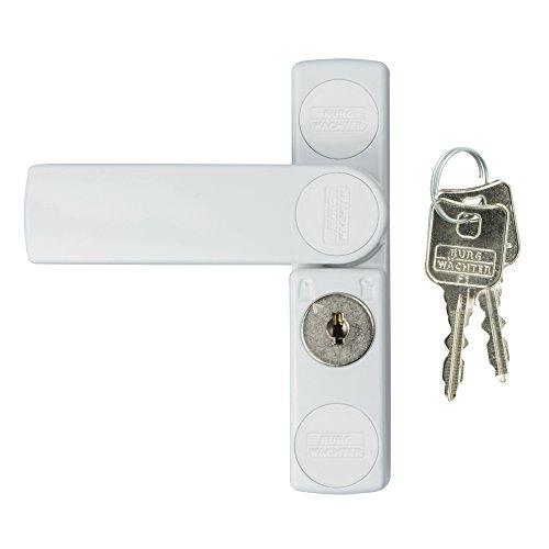 BURG-WÄCHTER Fenstersicherung für die Griffseite, Für Fenster aus Holz oder Aluminium, 2 Schlüssel, WinSafe WS 11 W SB