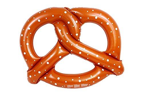 Tante Tina Brezel Luftmatratze - Badeinsel für den Pool - Riesen Schwimmreifen aufblasbar - XXL Schwimm Spielzeug in Braun - Witzige Wasser Insel groß