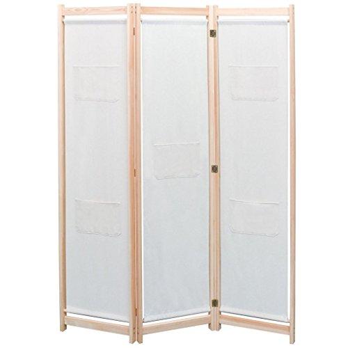 vidaXL 3-tlg. Raumteiler Kieferholz 120x170cm Trennwand Paravent Spanische Wand