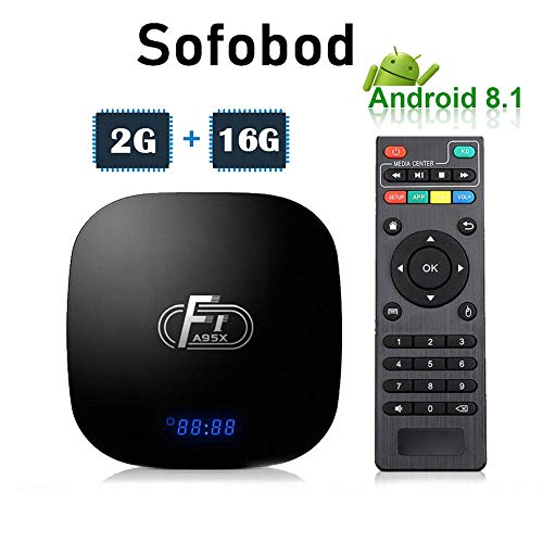 Sofobod A95X F1 Android Smart TV Box 2GB 16GB Android 8.1 Amlogic Octo-core 2.4GHz WiFi 4K(EINWEG)