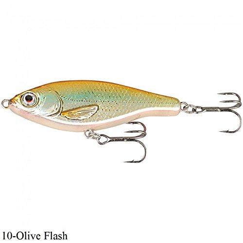 Savage Gear 3D Roach Jerkster 145 14,5cm 68g Jerkbait zum Hechtangeln, Hechtköder, Wobbler für Raubfisch, Farbe:Olive Flash