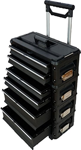 Metall Werkzeugtrolley Type B4-B BLACK EDITION mit Schubladenverriegelung und Schloss von AS-S