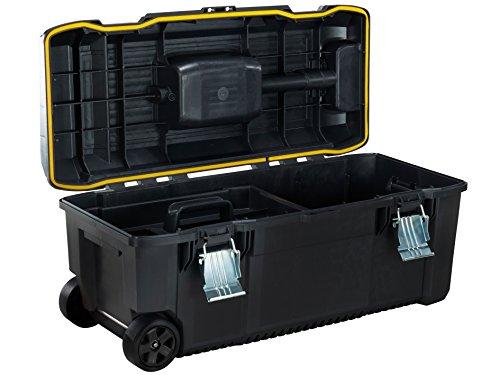 Stanley FatMax Werkzeugbox ZollStructual Foam Zoll (Spritzwassergeschützt mit Metallschliessen, rundumlaufende Gummidichtung und Teleskophandgriff) 1 Stück, FMST1-75761