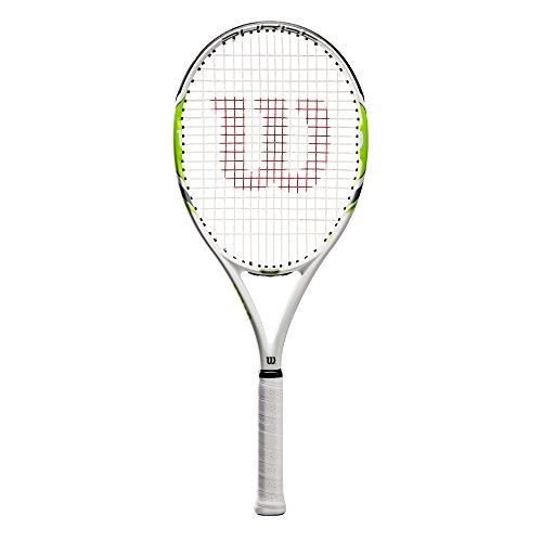 Wilson Damen/Herren-Tennisschläger, All Courter, Anfänger und Fortgeschrittene, Surge 100, Größe 3, Weiß/Grün, WRT72310U3