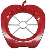 Fackelmann Apfelteiler, Apfelportionierer aus Kunststoff und Funktionsteil aus rostfreiem Edelstahl, Birnenteiler in rot/grün - spülmaschinengeeignet, Menge: 1 Stück