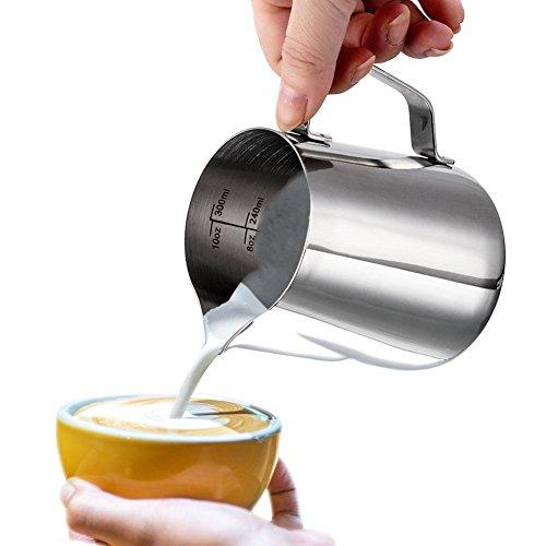 Milk Pitcher, Dailyart 350ml / 12 fl.oz. Edelstahl-Milch-Schalen-Aufschäumen von Milch Pitcher Milchkrug