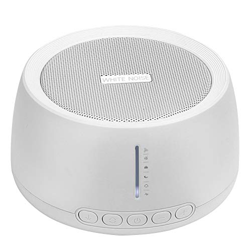 White noise machine, MANLI Einschlafhilfe Weißes Rausche Maschine, 18 Beruhigender Geräuschen, mit hochwertiger Lautsprecher tragbarer Schlaftherapie für Zuhause, Büro, Baby & Reisen