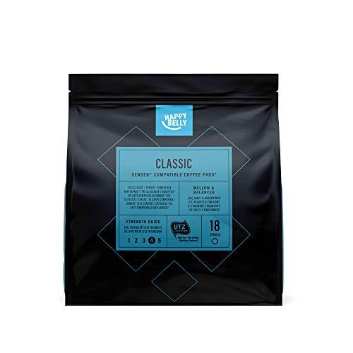 Amazon-Marke: Happy Belly Classic Kaffee-Pads kompatibel mit Senseo* - UTZ zertifiziert 90 Pads (5x18 )