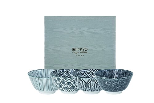 Tokyo Design Studio, Nippon Black, 4 Schalen Set , 4-tlg., Ø 12 cm, Porzellan aus Japan
