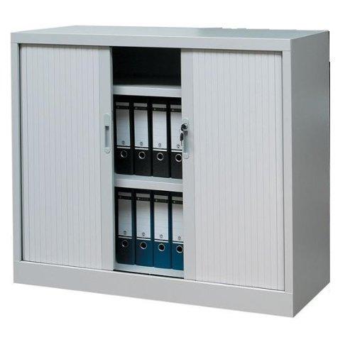Querrollladenschrank Sideboard 120cm breit Stahl Büro Aktenschrank Rollladenschrank grau 555130 (HxBxT) 1050 x 1200 x 460 mm kompl. montiert und verschweißt