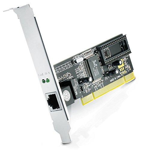 CSL - Gigabit LAN PCI Netzwerkkarte/Fast Ethernet Adapter 10/100/1000