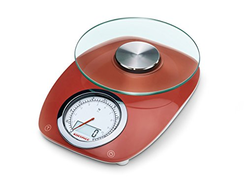 Soehnle 66229 Digitale Küchenwaage Vintage Style Red