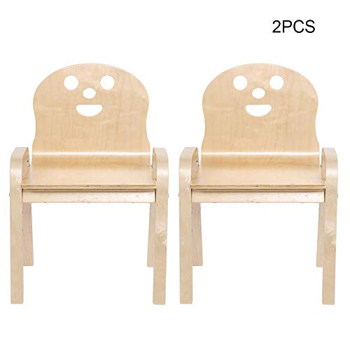 EBTOOLS 2 ╳ Kinderstuhl mit Lehne Kindermöbel Stuhl für Kinder, Holz, 38.5 * 31.5 * 58.5cm(Burlywood)
