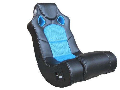 AVANTI TRENDSTORE - Apollon - Soundsessel aus Kunstleder mit integriertem Subwoofer, in verschiedenen Farben verfügbar, ca. 56x98x82 cm (blau)