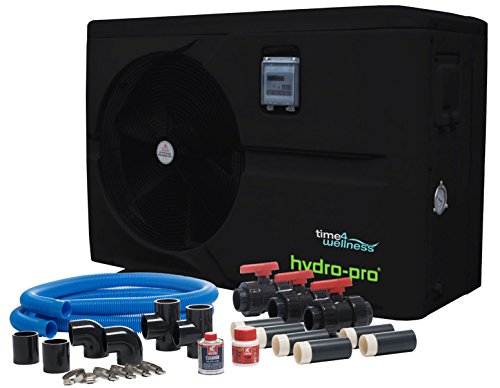 Hydro-Pro Wärmepumpe 10 kW 230 V Ganzjahresmodell bis 45 m³ mit Bypass-Set by time4wellness