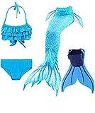 SPEEDEVE Mädchen Meerjungfrauenschwanz Zum Schwimmen mit Meerjungfrau Flosse, 12 (130-140cm), Dh06+wjf46