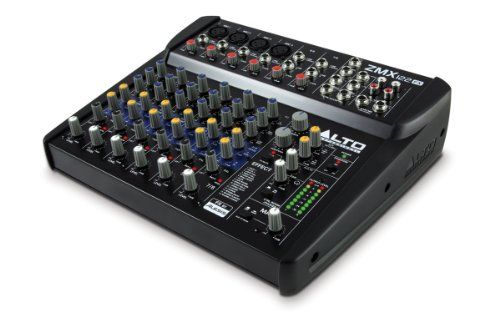 ALTO ZMX122FX Professionelle 8Kanal Mischpult mit Effekte, 3 Band EQ und 48V Phantom Power