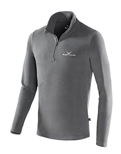 Black Crevice Herren Fleece Skirolli Skirolli Skirolli, Grau (grey - grey / silver), L (Herstellergröße: 52)