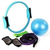 CleanDell Pilates-Ring mit 2 Griffen, für Fitnessübungen, zum Verbrennen von Fett