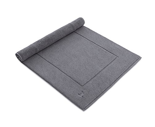 möve Superwuschel Badteppich 60 x 100 cm aus 100% Baumwolle, stone