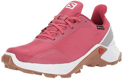 Salomon Damen Alphacross GTX W Trail Running-Schuhe, Rot (Rot/Weiß/Brau), 42 EU (8 UK)