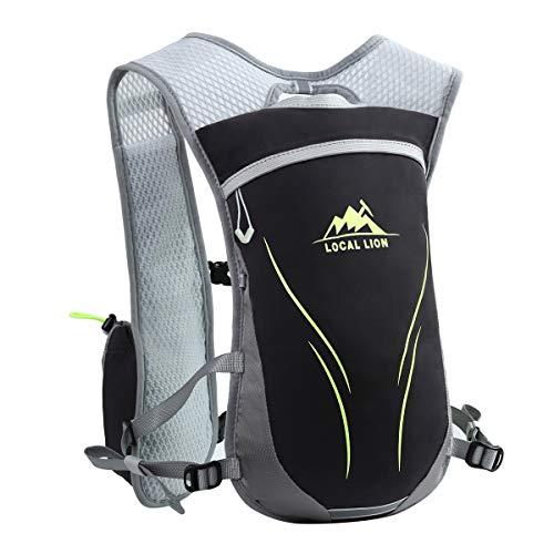 LOCAL LION Laufrucksack Trinkrucksack Fahrradrucksack Hydration Pack Ultraleicht 5.5L / 3L mit Trinksystem für Radsport Laufen Joggen Wandern Radfahren Camping Marathon (Schwarz+Gelb, 5.5L)