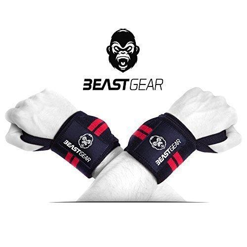 Beast Gear Handgelenkbandage – 2x Handgelenkstütze / Wrist Wraps für Sport, Fitness & Bodybuilding –Stabilisierend & Schützend - auch bei sehr hohen Gewichten & Belastungen