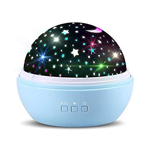 Sternenprojektor 360 Rotierenden Projektionslampe Sternenlicht Sternenhimmel Lichtprojektion Nachtlicht Projektor Colors Changing Night Light für Baby Kinder-Nachtlichter Gift