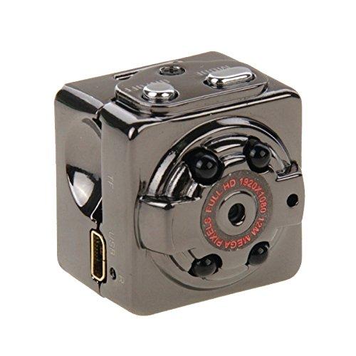 Sportkameras, SQ8 Full HD 1080P 30fps Pocket Digital Video Recorder Kamera Camcorder Ultra Mini Metall DV mit IR Nachtsicht, unterstützt Bewegungserkennung
