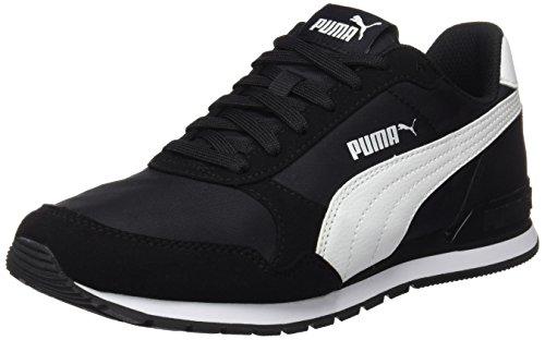 Puma Unisex-Erwachsene St Runner V2 NL Sneaker, Schwarz Black White 1, 44 EU (9.5 UK)