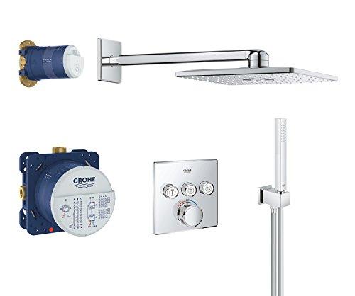 Grohe Grohtherm Smartcontrol | Brause- und Duschsysteme -  Duschsystem | Unterputz System mit Rainshower 310 Smartactive Kopfbrause | 34706000