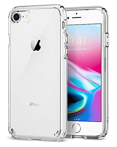 Spigen [Ultra Hybrid 2] iPhone 8/7 Hülle (042CS20927) Einteilige Handyhülle Durchsichtige PC Rückschale Silikon Bumper Schutzhülle Case (Liquid Crystal)