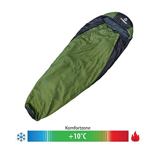 Trekking-Schlafsack Trek Night von outdoorer - der Leicht-Schlafsack, warm, leicht, kleines Packmaß